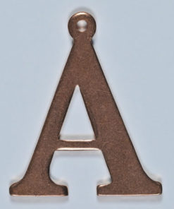 copper letter A