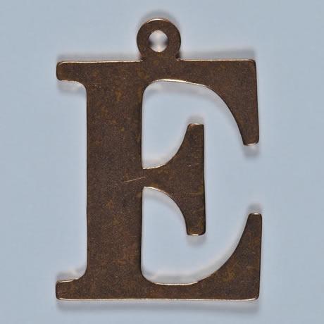 copper letter E
