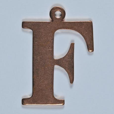 copper letter F