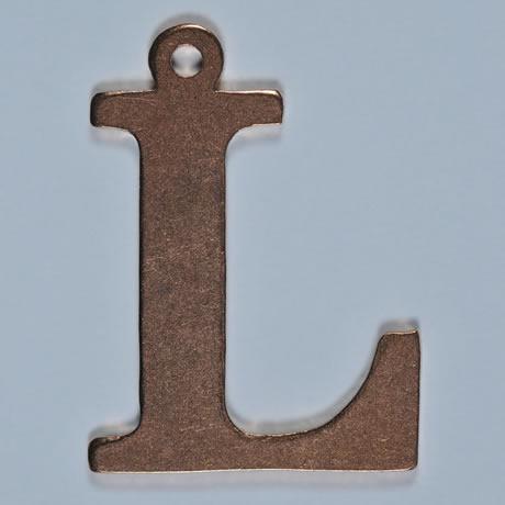 copper letter L
