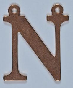 Copper Letter N