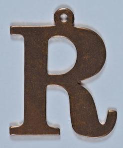 copper letter R