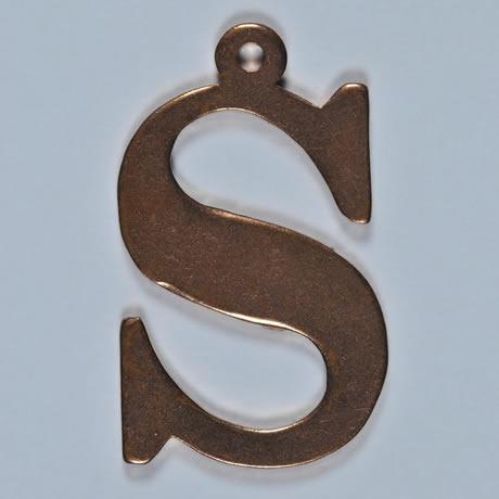 copper Letter S