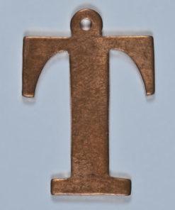copper Letter T