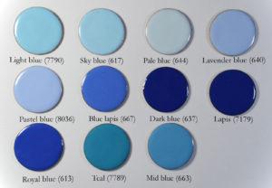 Figure 5: Blue opaque enamels on copper.
